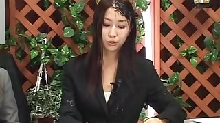 Bukkake Tv - Cum Shower on Live Anchor Woman