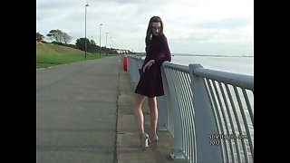 Leggy brunette Keri teases her long legs and high heels in your shoe fetish