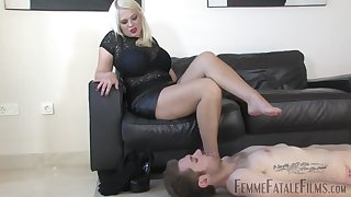 Heather divine slave foot licking