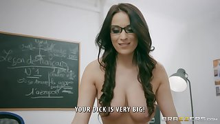 Naughty French teacher Anissa Kate loves anal - Brazzers