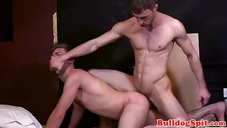 hairy hot stud cumming while destroyed