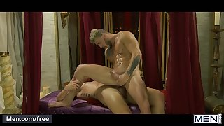 men.com - Hunks JJ Knight and William Seed ride big cock till they cum