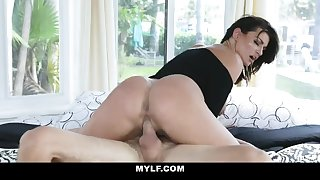 MYLF - Hot Cougar Hypnotizes A Big White Cock Stud