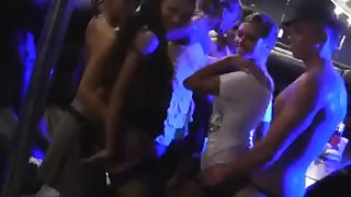 Seven girls fucked stripper at party