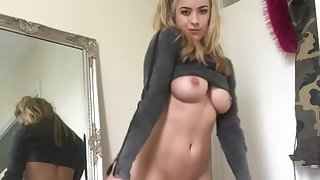 Gorgeous British Model Rosa Brighid Sexy Striptease
